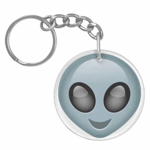 Extraterrestrial Alien Emoji Keychain