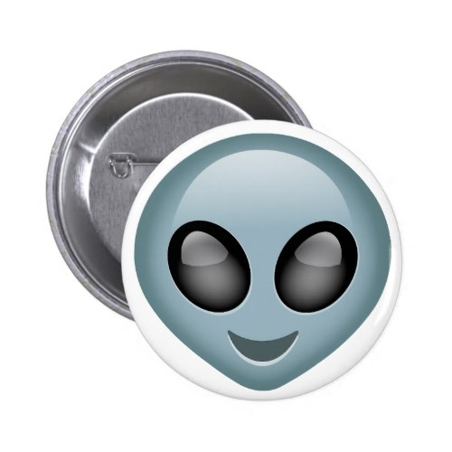 Extraterrestrial Alien Emoji Pinback Button