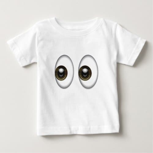 Eyes Emoji Baby T-Shirt