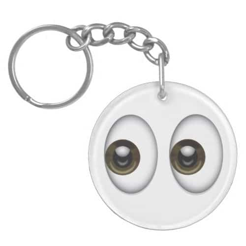Eyes Emoji Keychain