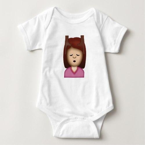 Face Massage Emoji Baby Bodysuit