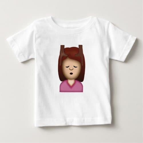Face Massage Emoji Baby T-Shirt