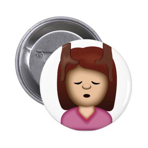 Face Massage Emoji Button