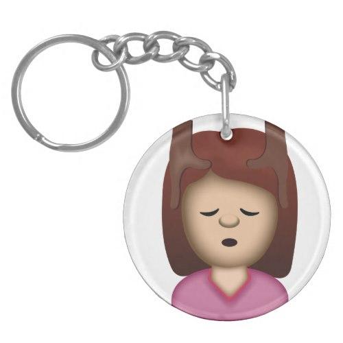 Face Massage Emoji Keychain