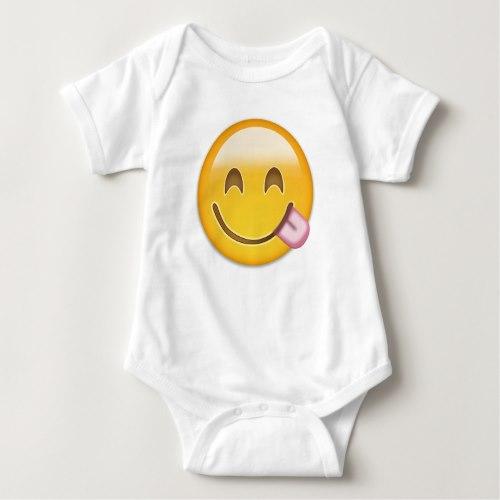 Face Savouring Delicious Food Emoji Baby Bodysuit
