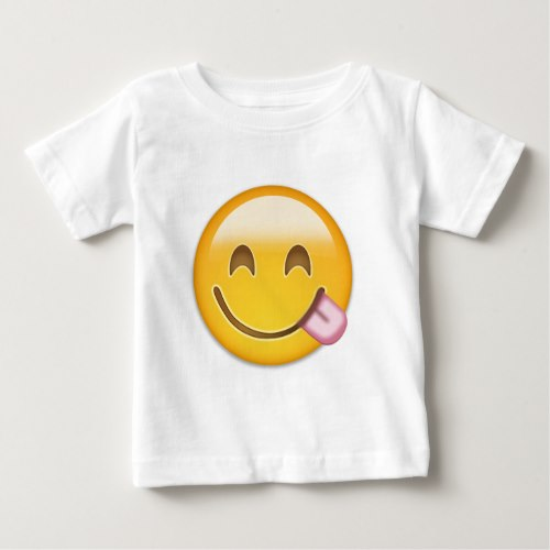 Face Savouring Delicious Food Emoji Baby T-Shirt