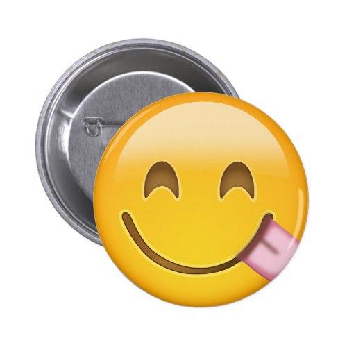 Face Savouring Delicious Food Emoji Button