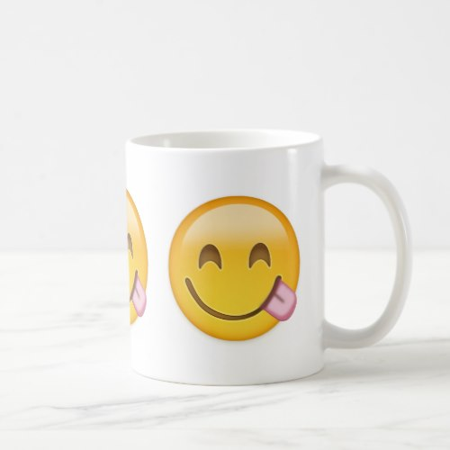 Face Savouring Delicious Food Emoji Coffee Mug