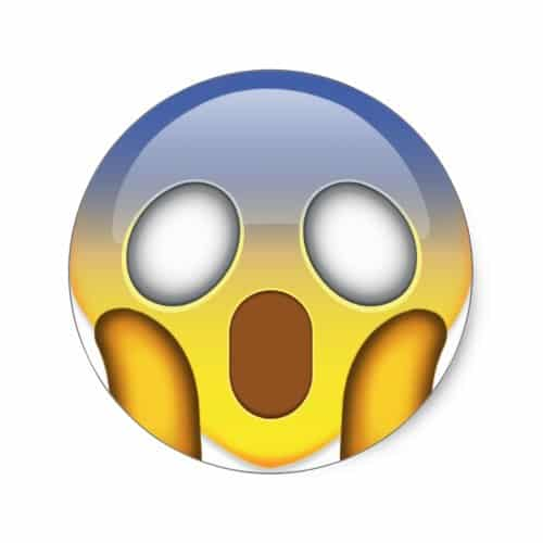 Face Screaming In Fear Emoji Classic Round Sticker