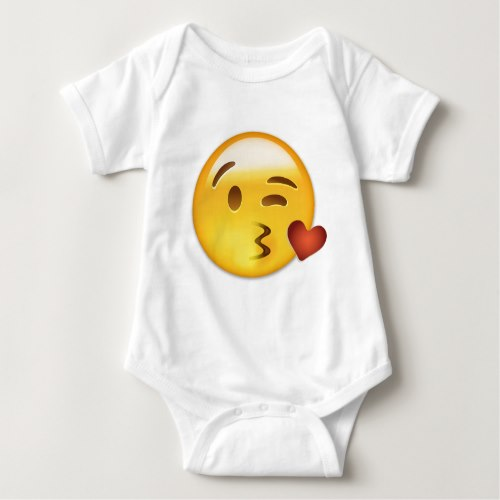 Face Throwing A Kiss Emoji Baby Bodysuit