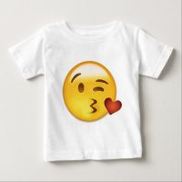 Face Throwing A Kiss Emoji Baby T-Shirt