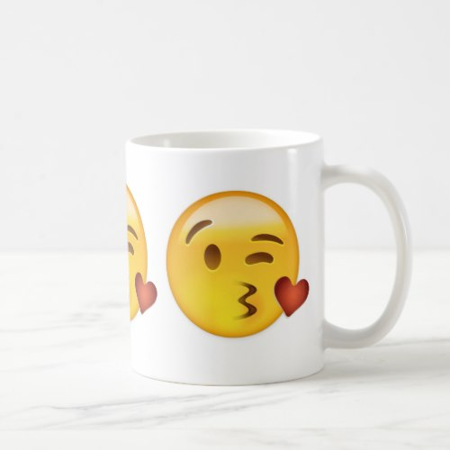Face Throwing A Kiss Emoji Coffee Mug
