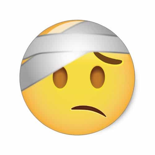 Face With Head-Bandage Emoji Classic Round Sticker