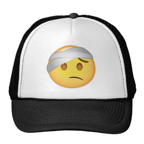 Face With Head-Bandage Emoji Trucker Hat