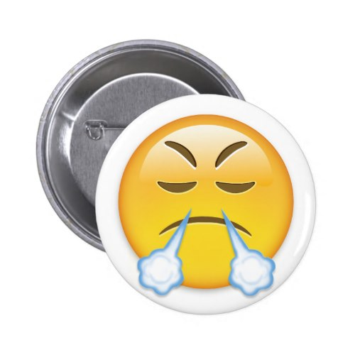 Face With Look Of Triumph Emoji Button