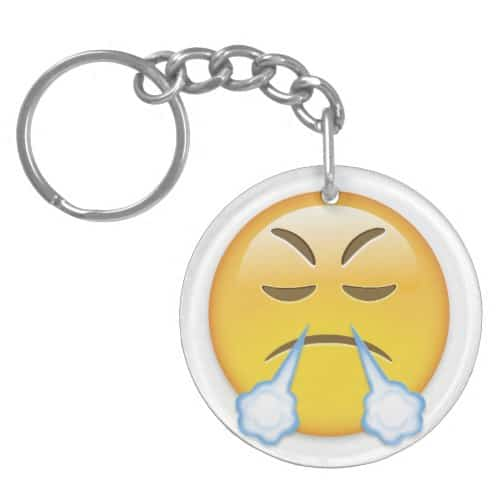 Face With Look Of Triumph Emoji Keychain