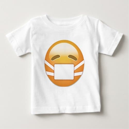 Face With Medical Mask Emoji Baby T-Shirt