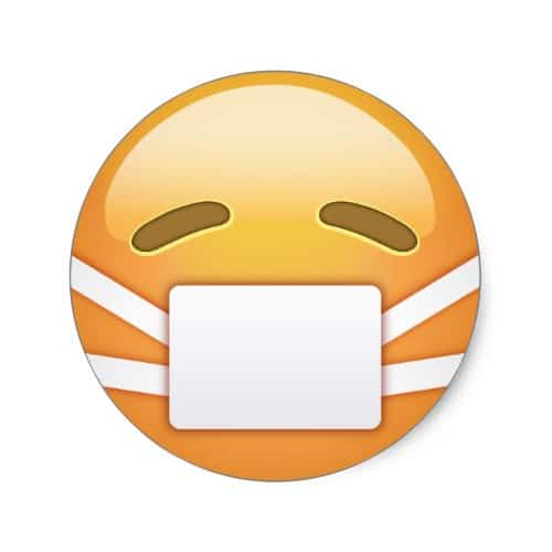 Face With Medical Mask Emoji Classic Round Sticker