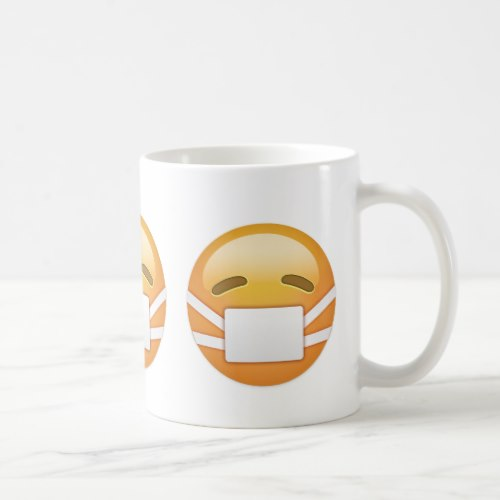 Face With Medical Mask Emoji Coffee Mug