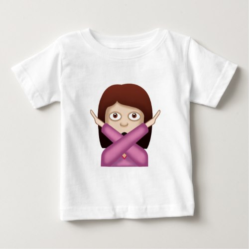Face With No Good Gesture Emoji Baby T-Shirt