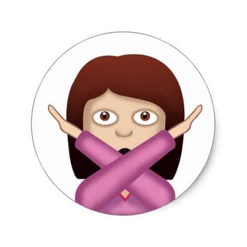 Face With No Good Gesture Emoji Classic Round Sticker