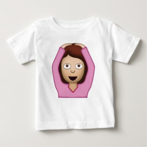 Face With OK Gesture Emoji Baby T-Shirt