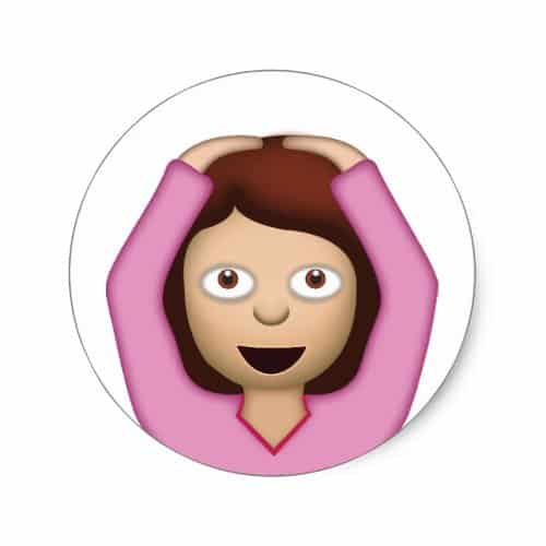 Face With OK Gesture Emoji Classic Round Sticker