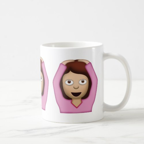 Face With OK Gesture Emoji Coffee Mug