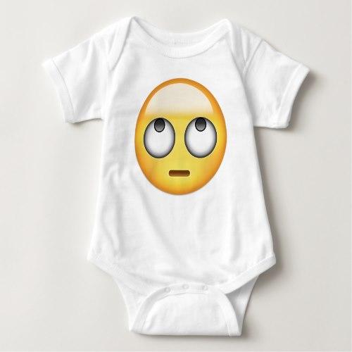 Face With Rolling Eyes Emoji Baby Bodysuit