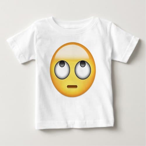 Face With Rolling Eyes Emoji Baby T-Shirt