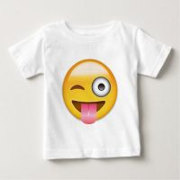 Face With Stuck Out Tongue And Winking Eye Emoji Baby T-Shirt
