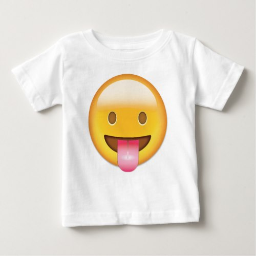 Face With Stuck Out Tongue Emoji Baby T-Shirt