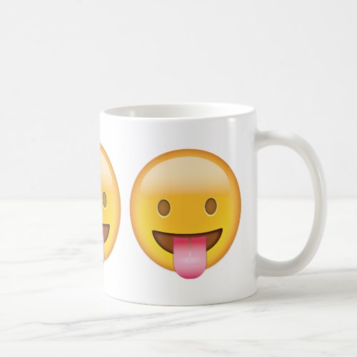 Face With Stuck Out Tongue Emoji Coffee Mug