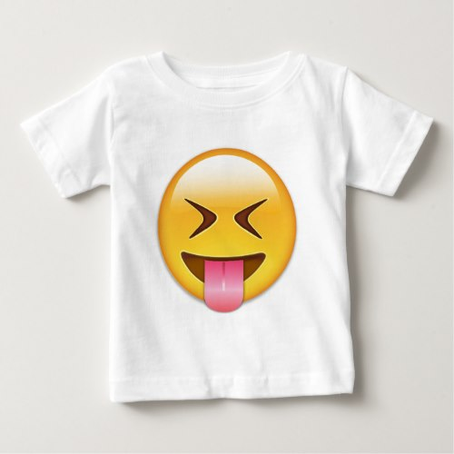 Face With Stuck Out Tongue & Tightly Closed Eyes Baby T-Shirt