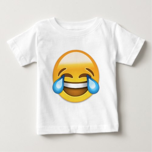 Face With Tears Of Joy Emoji Baby T-Shirt