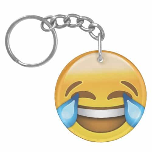 Face With Tears Of Joy Emoji Keychain