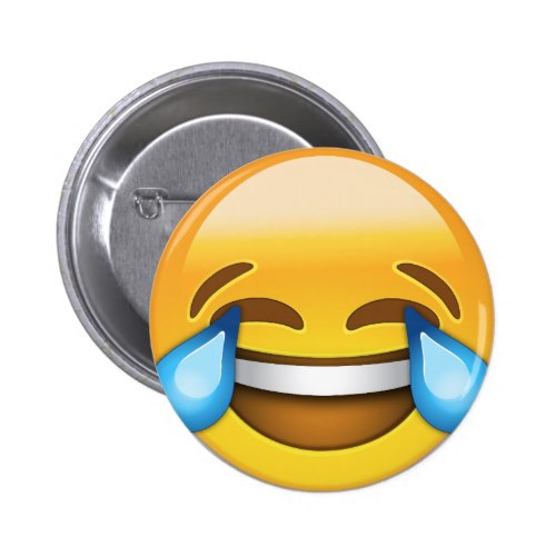 Face With Tears Of Joy Emoji Pinback Button