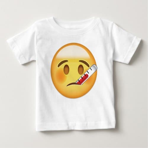 Face With Thermometer Emoji Baby T-Shirt