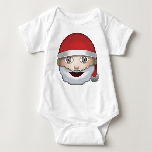 Father Christmas Emoji Baby Bodysuit