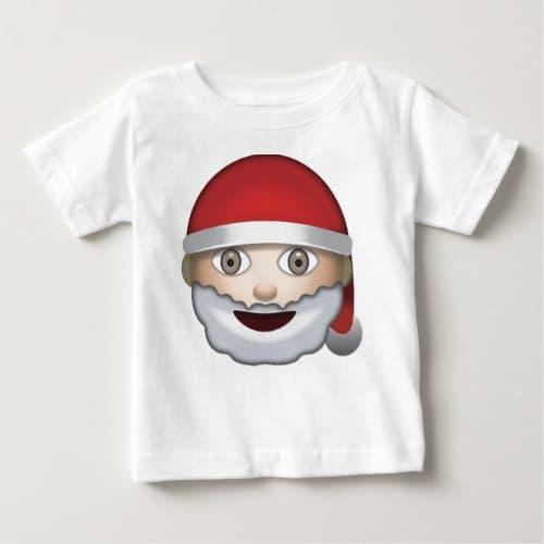 Father Christmas Emoji Baby T-Shirt
