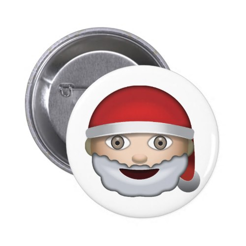 Christmas Emoji.Father Christmas Emoji Button