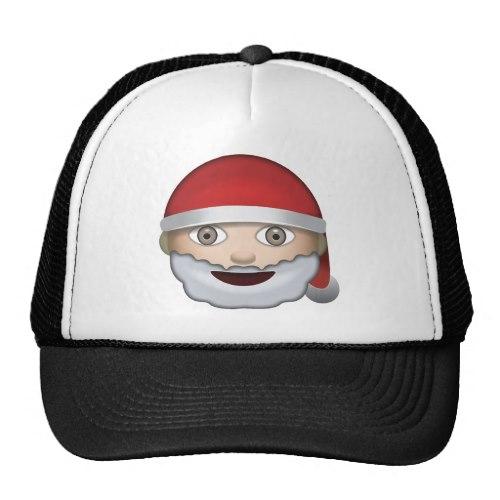Father Christmas Emoji Trucker Hat
