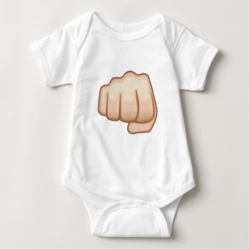 Fisted Hand Sign Emoji Baby Bodysuit