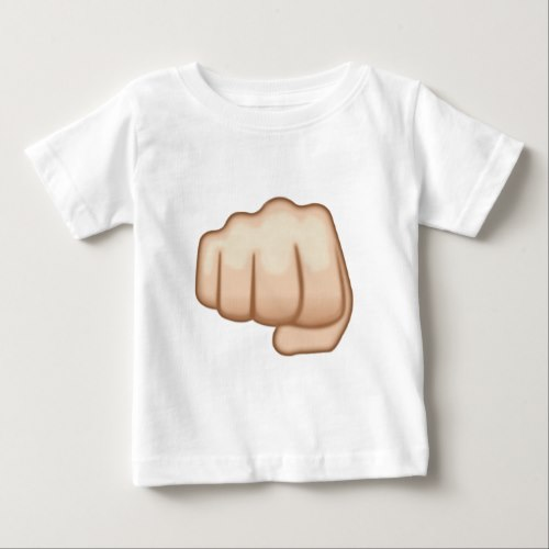Fisted Hand Sign Emoji Baby T-Shirt