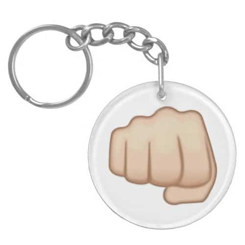Fisted Hand Sign Emoji Keychain