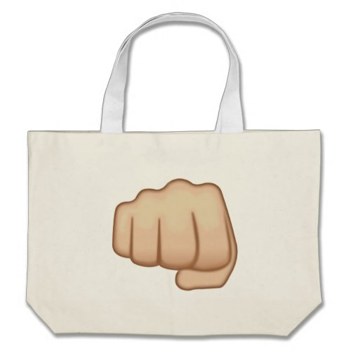 Fisted Hand Sign Emoji Large Tote Bag