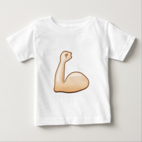 Flexed Biceps Emoji Baby T-Shirt