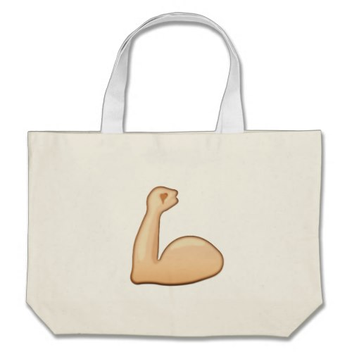 Flexed Biceps Emoji Large Tote Bag