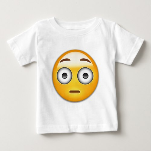 Flushed Face Emoji Baby T-Shirt