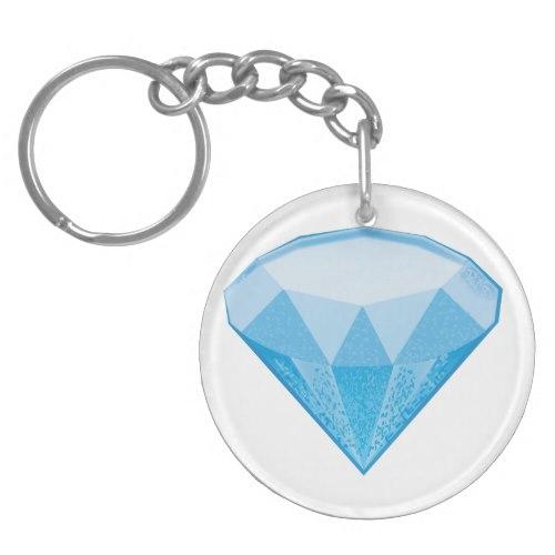 Gem Stone Emoji Keychain